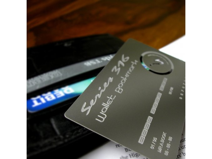 Karta do peněženky - záložka do knihy